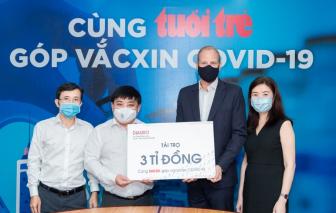 """Diageo Việt Nam tài trợ 3 tỷ đồng cho chương trình """"Cùng Tuổi Trẻ góp vắc-xin COVID-19"""""""