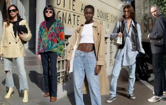Quần jean, denim lên ngôi phong cách thời trang đường phố ở Tuần lễ thời trang Milan