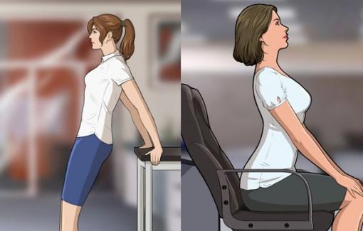 6 bài tập cho dân văn phòng, không cần rời bàn làm việc bạn vẫn có cơ thể săn chắc