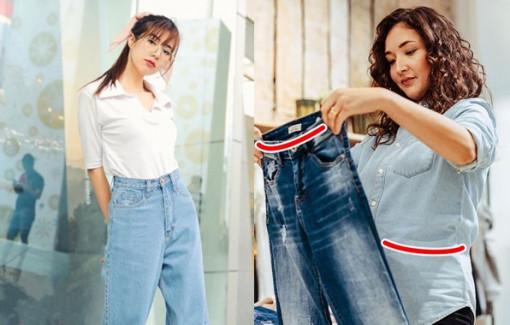 Mẹo chọn quần jeans vừa dáng người không cần thử