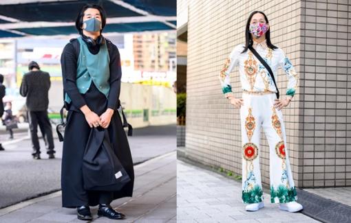 Nam giới mặc váy, quần ống loe tại Tokyo Fashion Week 2021