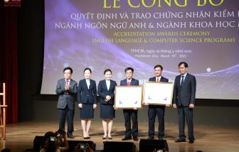 Trường đại học Quốc tế Sài Gòn đạt kiểm định chất lượng chương trình ngành Ngôn ngữ Anh và ngành Khoa học máy tính