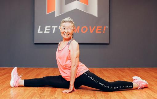 90 tuổi trở thành giáo viên dạy thể dục