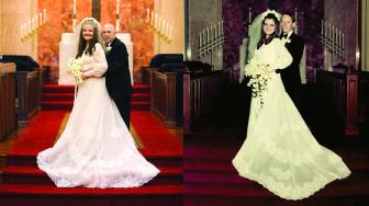 Tái hiện bộ ảnh cưới sau 50 năm