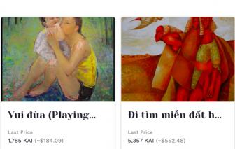 Nghệ sĩ Việt mua bán tác phẩm bằng công nghệ gây sốt toàn cầu