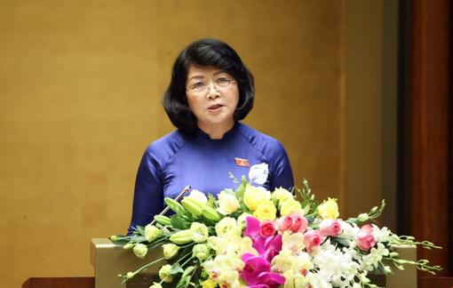 Trình miễn nhiệm Phó chủ tịch nước Đặng Thị Ngọc Thịnh