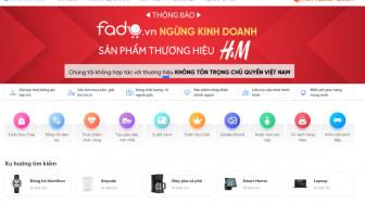 Sàn giao dịch điện tử đầu tiên ngưng kinh doanh sản phẩm H&M