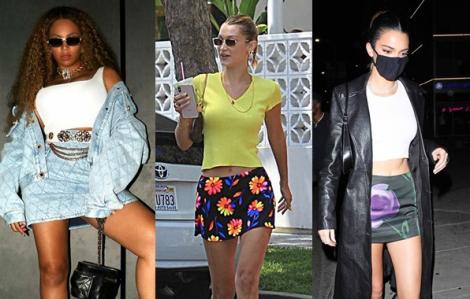 Sao Hollywood lăng xê chân váy mini mát mẻ mùa hè