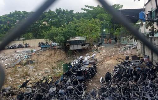 Cháy bãi xe của Đội CSGT - TT Công an TP. Thủ Đức là do chập điện