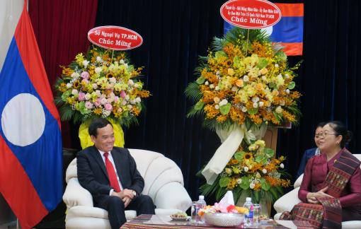 Lãnh đạo TPHCM chúc Tết cổ truyền Bunpimay của nhân dân các bộ tộc Lào