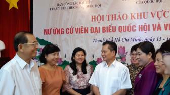 Tiếp sức nữ ứng viên đại biểu Quốc hội các tỉnh phía Nam