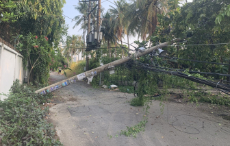 Truy tìm xe tải gây ra vụ trụ điện ngã đổ khiến hàng trăm hộ dân mất điện ở TP. Thủ Đức