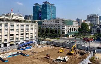 Khoảng 10 ngày nữa, metro số 1 hoàn trả lại mặt đường Lê Lợi
