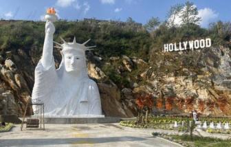 """Sa Pa yêu cầu đóng cửa điểm du lịch có tượng Nữ thần tự do """"phiên bản đột biến"""""""