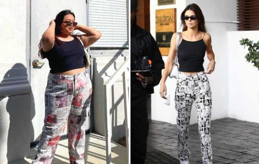 Cô gái ngoại cỡ mặc đồ giống Kendall Jenner truyền cảm hứng