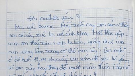 Giúp trẻ yêu sớm dừng ở vạch an toàn: Choáng với đơn xin được yêu của bé gái lớp Bảy