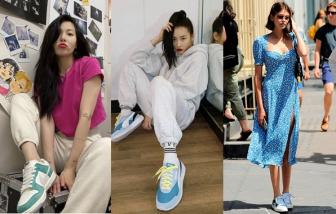 Sao Á - Âu chuộng mốt sneaker pastel ngọt ngào mùa hè