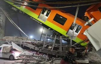 Sập cầu vượt metro tại Mexico khiến ít nhất 83 người thương vong