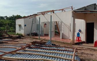 Bình Phước: 25 căn nhà bị sập, tốc mái, hàng chục cột điện, cột phát sóng bị gãy đổ
