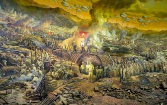 Bức tranh toàn cảnh hơn 3.000m2 khắc họa chiến thắng điện biên phủ