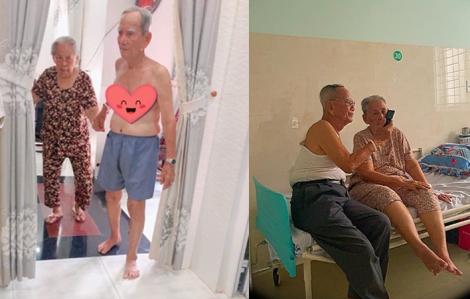 Nắm chặt tay nhau ở tuổi 90, vợ chồng già nửa bước không rời