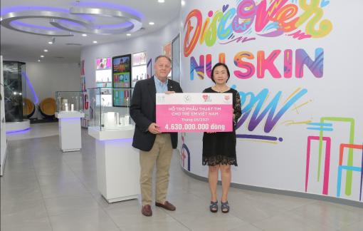 Nu Skin tiếp tục đóng góp 4,6 tỷ đồng hỗ trợ trẻ em bị bệnh tim bẩm sinh tại Việt Nam