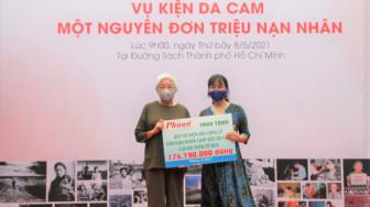 Bà Trần Tố Nga cảm ơn người dân Việt Nam đã góp sức tìm công lý cho nạn nhân da cam
