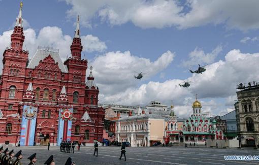 Nga duyệt binh Ngày Chiến thắng trên Quảng trường Đỏ Moscow