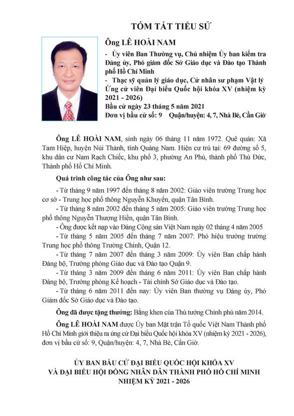Danh sách 50 ứng cử viên ĐBQH khóa XV tại TP.HCM - Ảnh 81.
