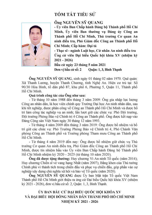 Danh sách 50 ứng cử viên ĐBQH khóa XV tại TP.HCM - Ảnh 15.