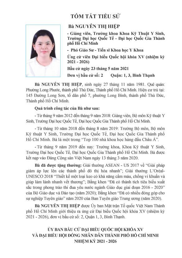 Danh sách 50 ứng cử viên ĐBQH khóa XV tại TP.HCM - Ảnh 11.