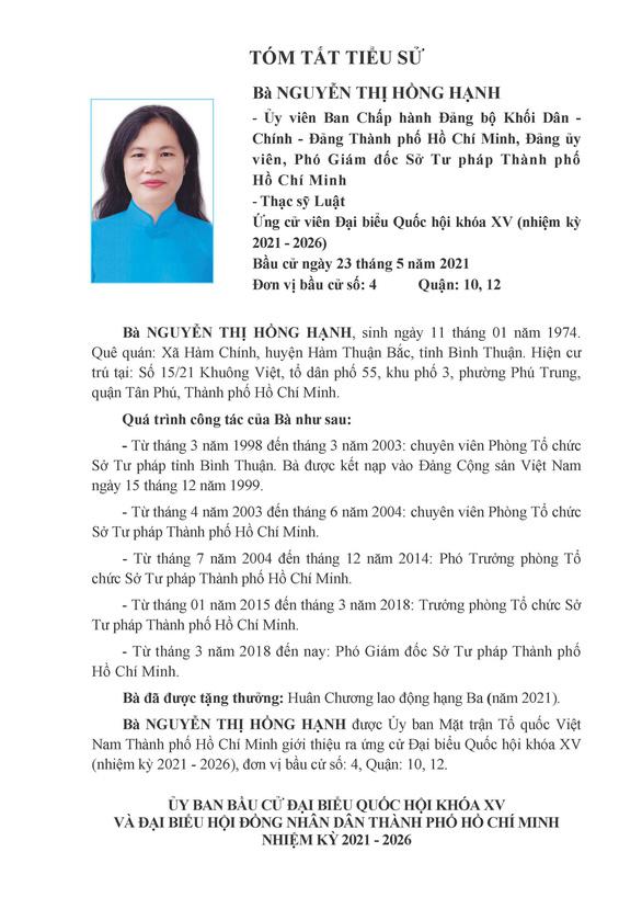 Danh sách 50 ứng cử viên ĐBQH khóa XV tại TP.HCM - Ảnh 31.