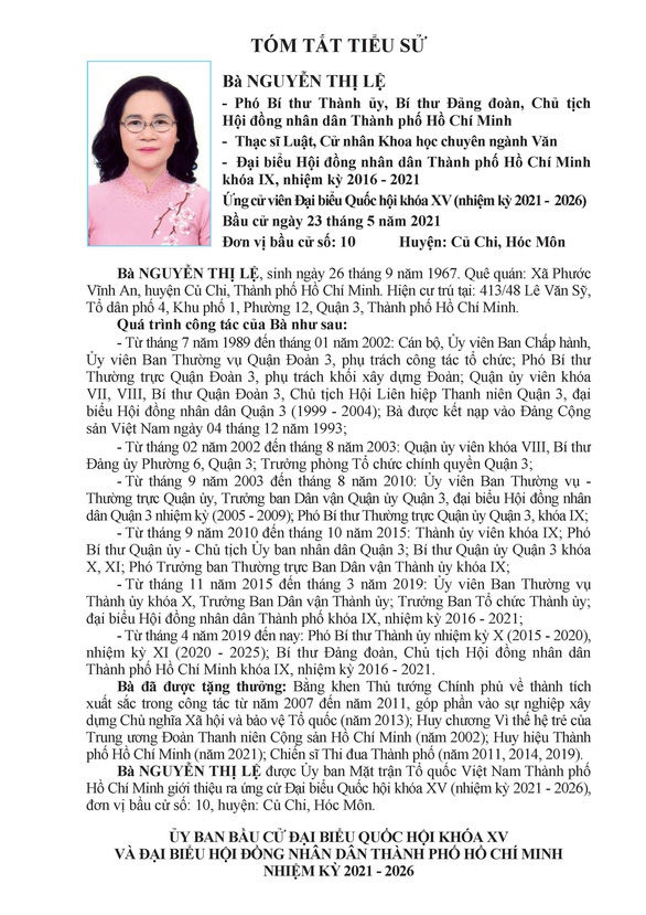 Danh sách 50 ứng cử viên ĐBQH khóa XV tại TP.HCM - Ảnh 95.