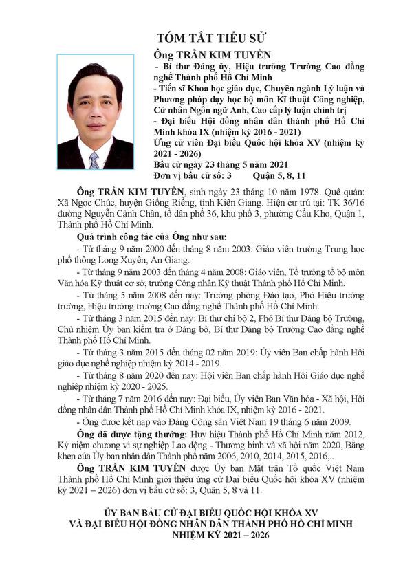 Danh sách 50 ứng cử viên ĐBQH khóa XV tại TP.HCM - Ảnh 25.