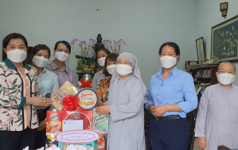 Hội LHPN TPHCM thăm cơ sở tôn giáo nhân dịp lễ Phật Đản 2021 tại huyện Nhà Bè