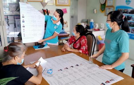 Hội viên phụ nữ cùng tham gia ngày hội non sông
