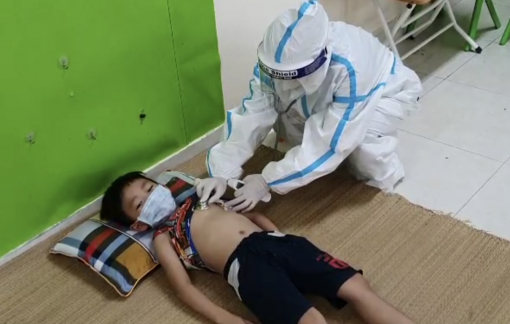 Bắc Giang: 34 cháu bé F1 cách ly ở trường mầm non được chăm sóc chu đáo