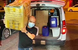 Trốn vợ con, 2 tài xế âm thầm lên đường chi viện Bắc Giang chống dịch