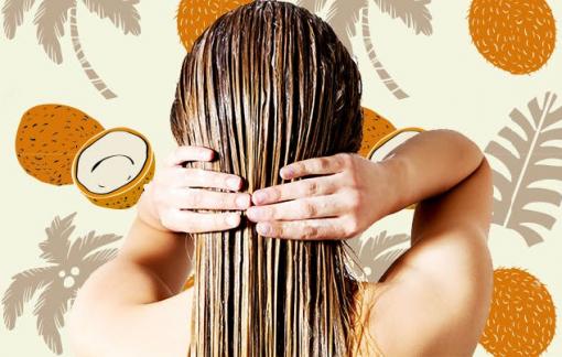 Mặt nạ dưỡng tóc bằng dầu dừa cho mọi loại tóc