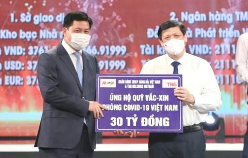 TNG Holdings Vietnam và Ngân hàng TMCP Hàng Hải Việt Nam ủng hộ gần 50 tỷ đồng cho hoạt động phòng, chống dịch COVID-19