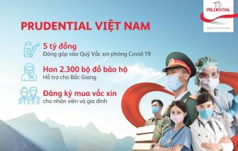 Prudential đóng góp 5 tỷ đồng vào Quỹ Vắc xin phòng, chống COVID-19 và hỗ trợ khẩn cấp hơn 2.300 bộ đồ bảo hộ cho tỉnh Bắc Giang