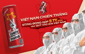 Suntory PepsiCo Việt Nam và nhãn hàng Sting đóng góp 5 tỷ đồng vào Quỹ Vắc-xin phòng, chống COVID-19 Việt Nam