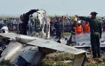 Rơi máy bay ở Myanmar: 12 người chết, 2 người sống sót