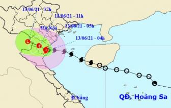 Bão số 2 đổ bộ đất liền Thái Bình - Thanh Hóa