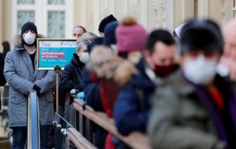 Số ca mắc COVID-19 tại Nga tăng đột biến
