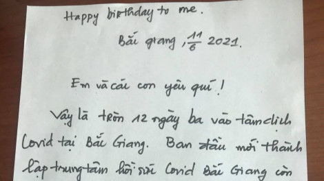 Lá thư từ tâm dịch và buổi tiệc sinh nhật online cảm động của nam điều dưỡng