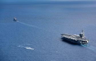 Nhóm tàu sân bay Mỹ xuất hiện tại Biển Đông