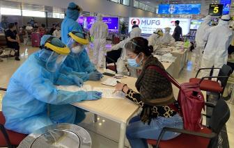 Hà Nội test nhanh SARS-CoV-2 người từ TPHCM đến sân bay Nội Bài