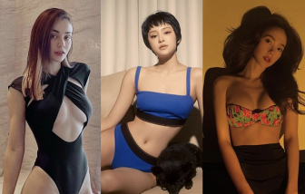 Ở nhà tránh dịch, sao Việt diện bikini khoe dáng thon thả