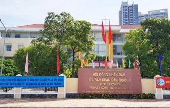Trụ sở UBND quận 7 vẫn duy trì hoạt động